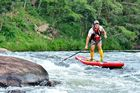 Dusi 2015 - Jon Ivins shooting Little John Rapid on day 3